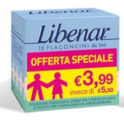 LIBENAR 15 FLACONCINI SOLUZIONE ISOTONICA 5 ML TAGLIO