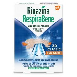 RINAZINA RESPIRABENE CEROTTI NASALI CLASSICI GRANDI CARTON 30
