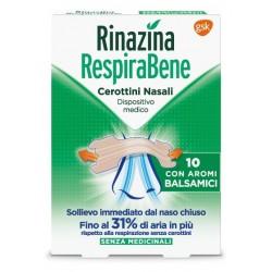 RINAZINA RESPIRABENE CEROTTI NASALI CON AROMI BALSAMICI CARTON 10