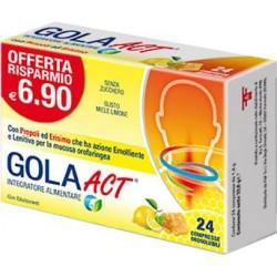 GOLA ACT MIELE LIMONE 24 COMPRESSE SOLUBILI 33,6