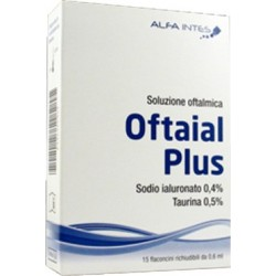 SOLUZIONE OFTALMICA OFTAIAL PLUS ACIDO IALURONICO 0,4% E TAURINA 15 FLACONCINI RICHIUDIBILI DA 0,6
