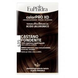 EUPHIDRA COLORPRO XD 435 CASTANO FONDENTE GEL COLORANTE CAPELLI IN FLACONE + ATTIVANTE + BALSAMO +