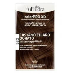 EUPHIDRA COLORPRO XD 530 CASTANO CHIARO DORATO GEL COLORANTE CAPELLI IN FLACONE + ATTIVANTE + BALSAMO +
