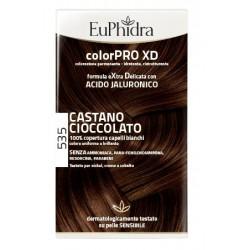 EUPHIDRA COLORPRO XD 535 CASTANO CIOCCOLATO GEL COLORANTE CAPELLI IN FLACONE + ATTIVANTE + BALSAMO +