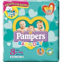 PAMPERS BABY DRY DOWNCOUNT MIDI 20