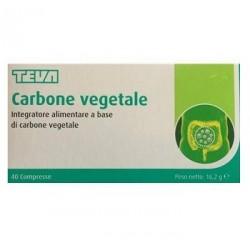CARBONE VEGETALE TEVA 40 COMPRESSE 16,2