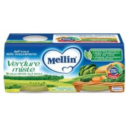 MELLIN OMOGENEIZZATO VERDURE MISTE 2 X 80