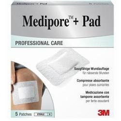 MEDICAZIONE MEDIPORE+PAD 5X7,2CM
