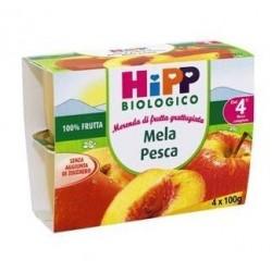 HIPP BIO HIPP BIO FRUTTA GRATTUGGIATA MELA PESCA 4X100