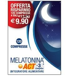 MELATONINA ACT 1MG +3 COMPLEX 120 COMPRESSE 18