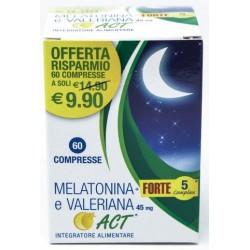 MELATONINA ACT 1MG +VALERIANA 5 FORTE COMPLEX 60