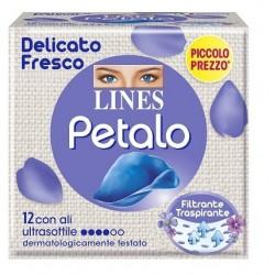 LINES PETALO BLU ASSORBENTE CON ALI 12