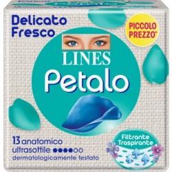 LINES PETALO BLU ASSORBENTE ANATOMICO 13