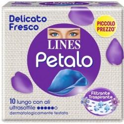 LINES PETALO BLU ASSORBENTE LUNGO CON ALI 10