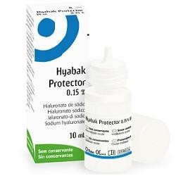 HYABAK PROTECTOR SOLUZIONE OFTALMICA SODIO IALURONATO 0,15% FLACONE 10ML